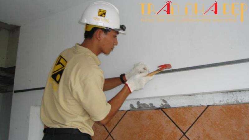 Băng keo xử lý mối nối trần thạch cao