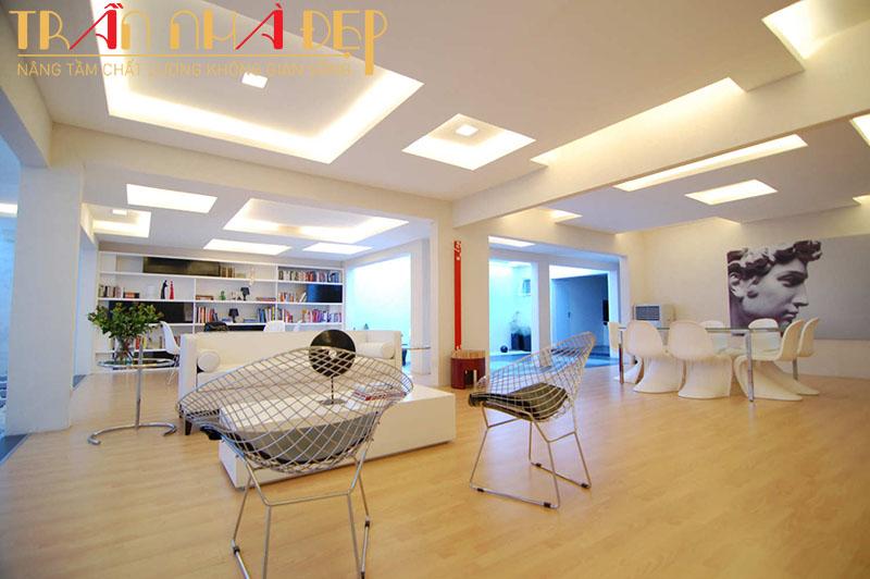 làm trần thạch cao cho nhà mái tôn chống nóng