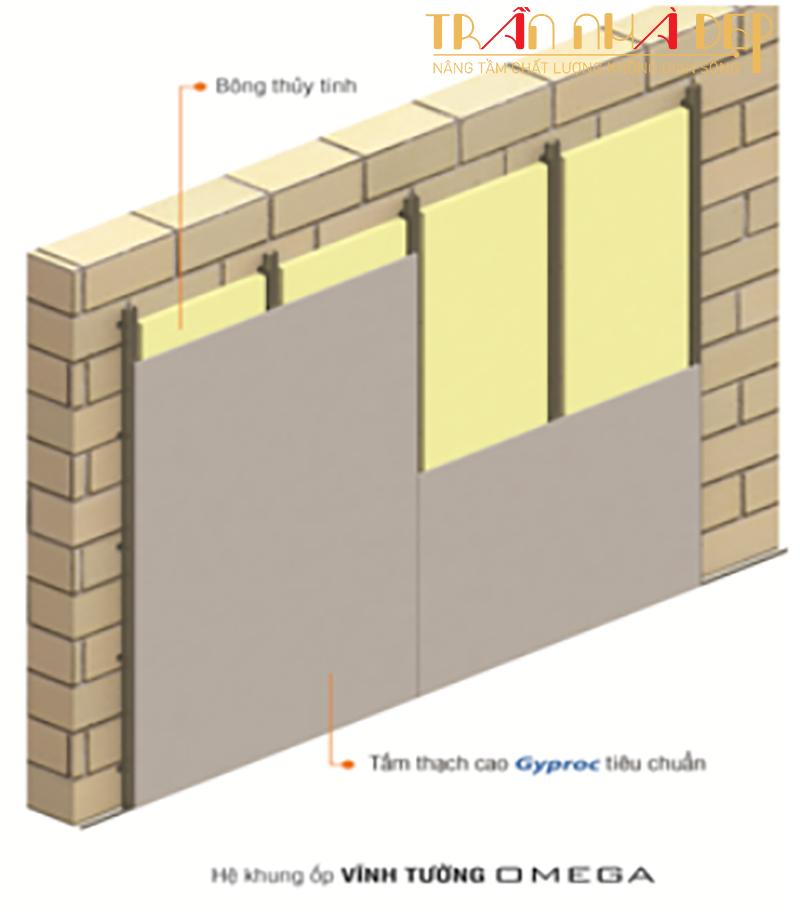 giải pháp cách nhiệt cho nhà bằng hệ vách thạch cao